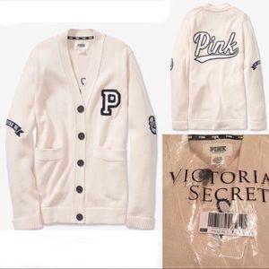 Victoria's Secret PINK logo Cardigan sweater